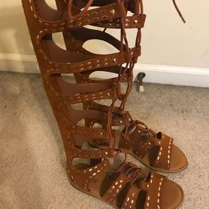Bamboo Knee High Sandals